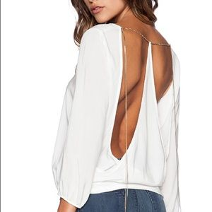 BA&SH Diva Blouse with Chain Detail 1